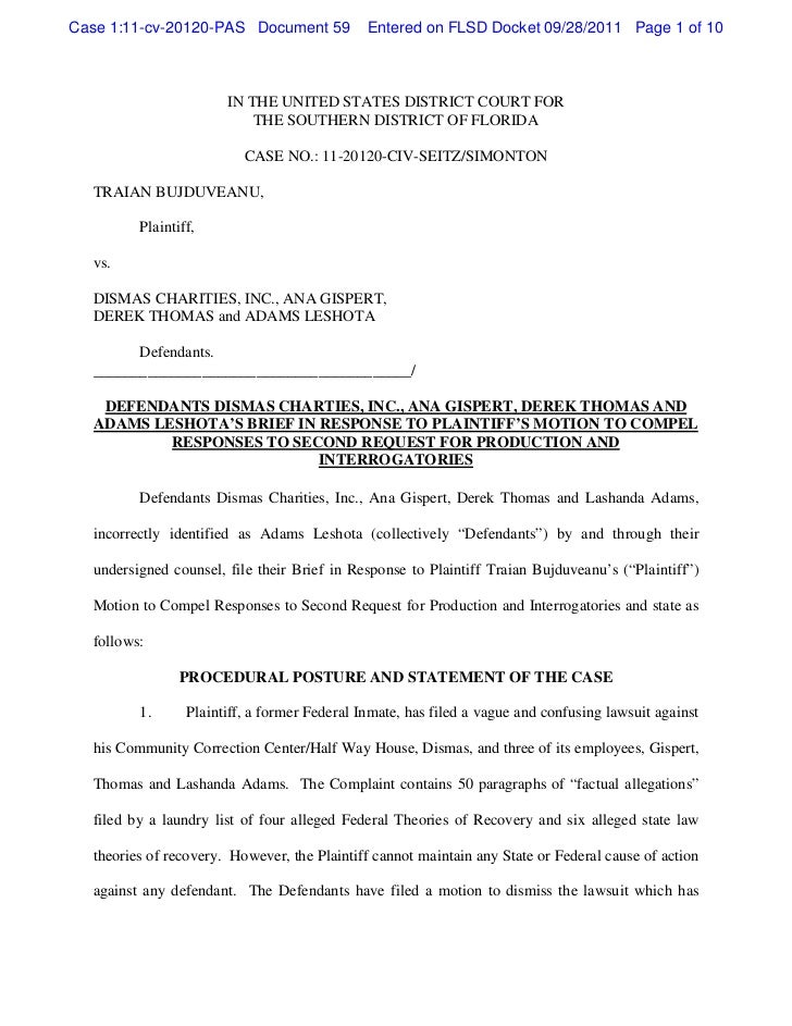 Case 1:11-cv-20120-PAS Document 59            Entered on FLSD Docket 09/28/2011 Page 1 of 10                       IN THE ...
