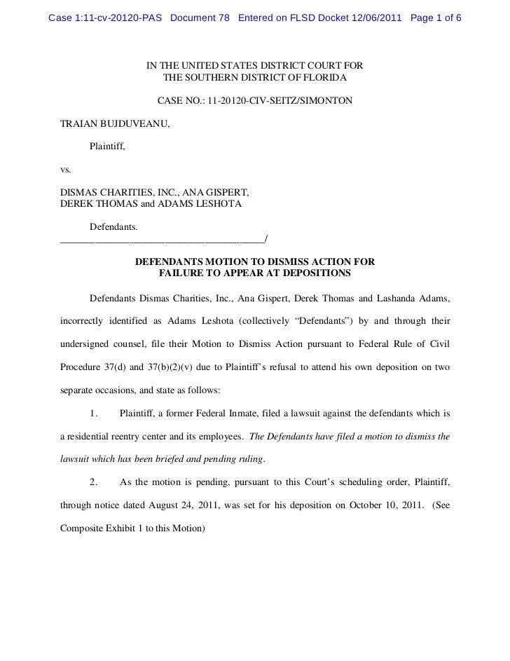 Case 1:11-cv-20120-PAS Document 78 Entered on FLSD Docket 12/06/2011 Page 1 of 6                        IN THE UNITED STAT...