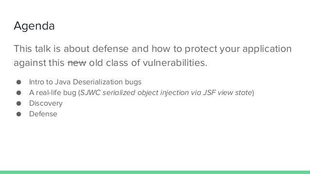 Defending against Java Deserialization Vulnerabilities Slide 2