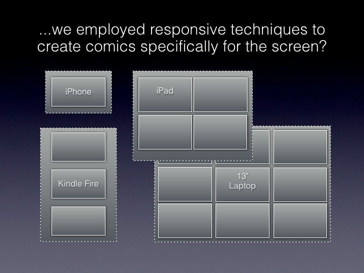 ...we employed responsive techniques tocreate comics specifically for the screen?    iPhone       iPad                    ...