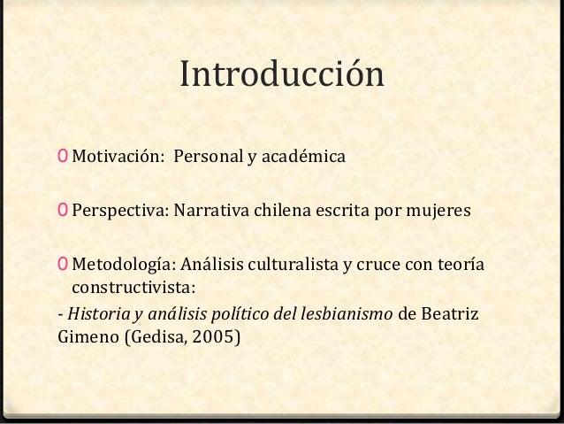 Presentación Tesis Identidad Lésbica en la Literatura Chilena Reciente Slide 2