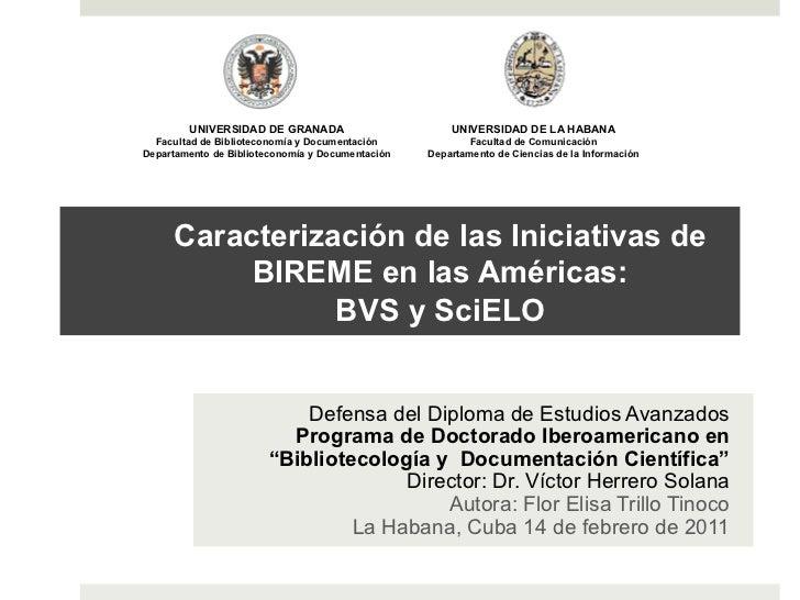 UNIVERSIDAD DE GRANADA                        UNIVERSIDAD DE LA HABANA  Facultad de Biblioteconomía y Documentación       ...