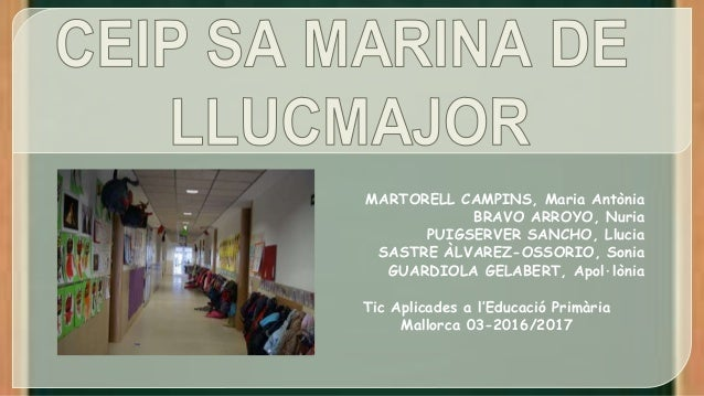 MARTORELL CAMPINS, Maria Antònia BRAVO ARROYO, Nuria PUIGSERVER SANCHO, Llucia SASTRE ÀLVAREZ-OSSORIO, Sonia GUARDIOLA GEL...