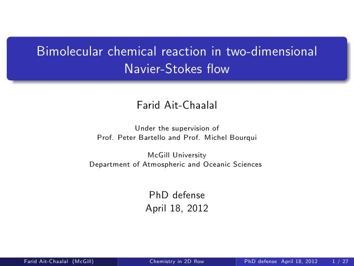 Bimolecular chemical reaction in two-dimensional                   Navier-Stokes flow                                      ...