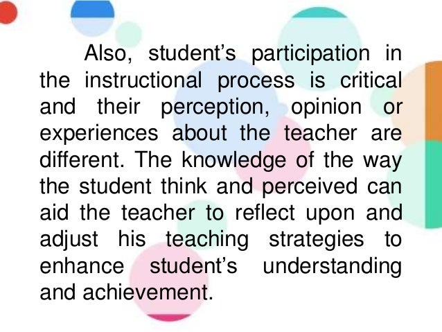 the perception of students on effective Perception of student teachers about teaching competencies  between teacher competence and effective  the perception of student teachers of the essential .