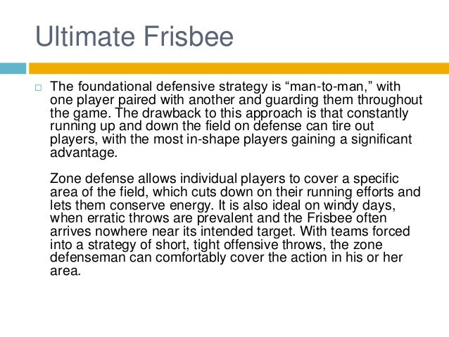 Defense - A Critical Component in Ultimate Frisbee Strategy Slide 3