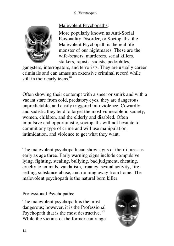 warning signs of a psychopath