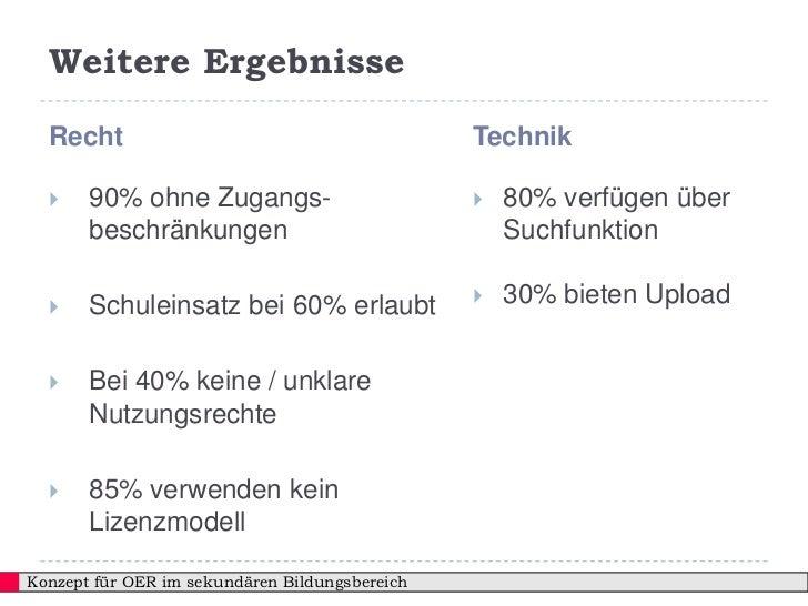 Weitere Ergebnisse  Recht                                         Technik      90% ohne Zugangs-                        ...