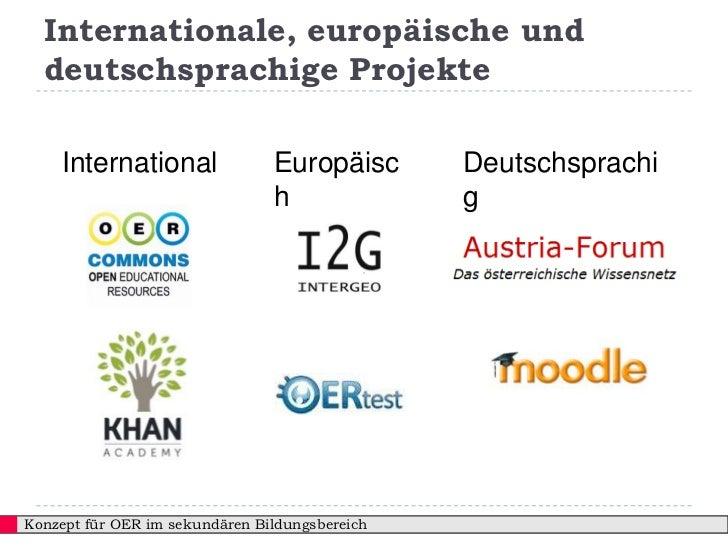 Internationale, europäische und  deutschsprachige Projekte    International               Europäisc       Deutschsprachi  ...
