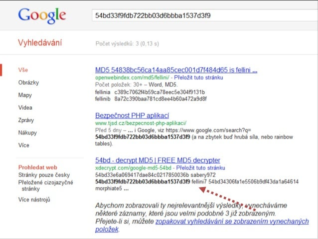 MD5(heslo + salt) SHA1(heslo + salt)  Michal Špaček  www.michalspacek.cz