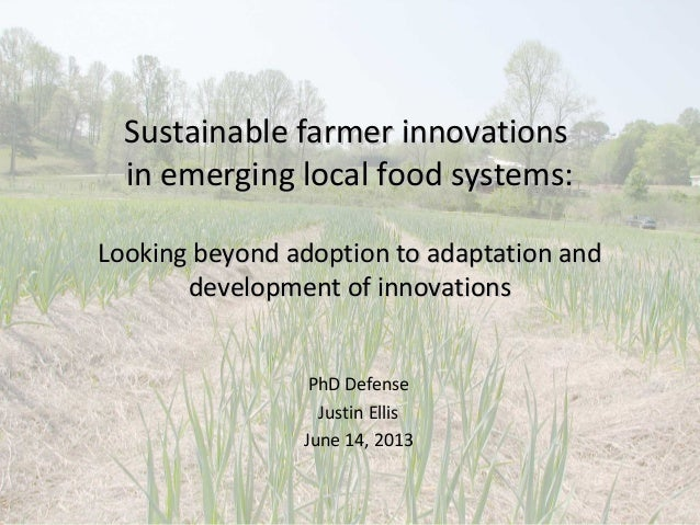 Sustainable farmer innovationsSustainable farmer innovationsin emerging local food systems:in emerging local food systems:...