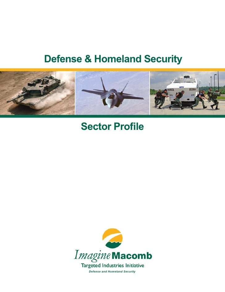 Defense & Homeland Security            Sector Profile             Defense and Homeland Security                           ...