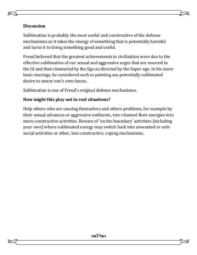 Defense mechanisms Examples and Discussion and how it works – Defense Mechanism Worksheet