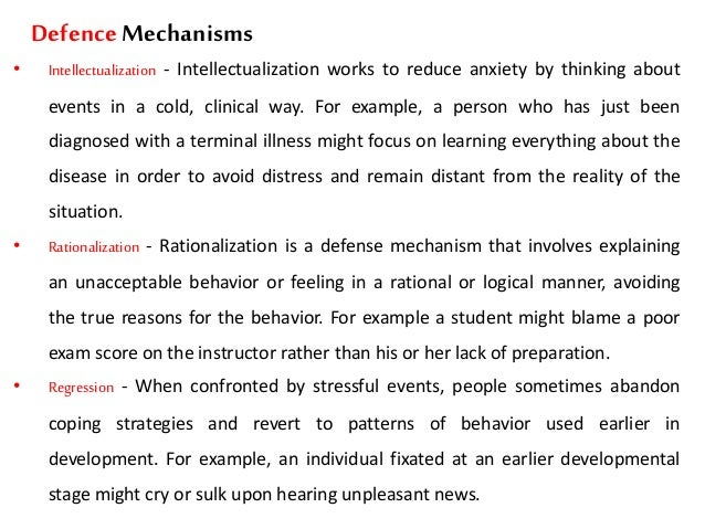 Defense Mechanisms Sigmund Freud