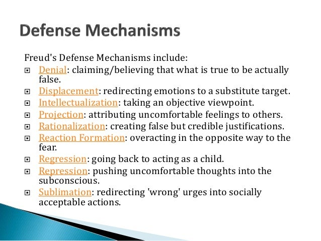 defense mechanisms psychology