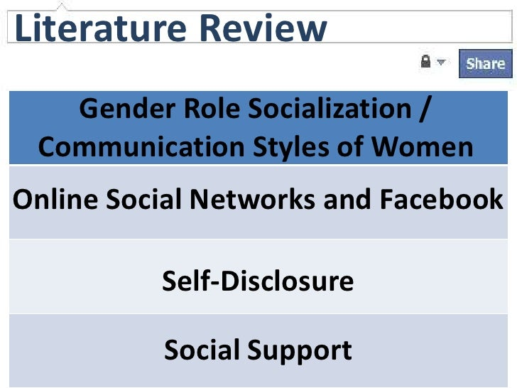 self disclosure gender and communication