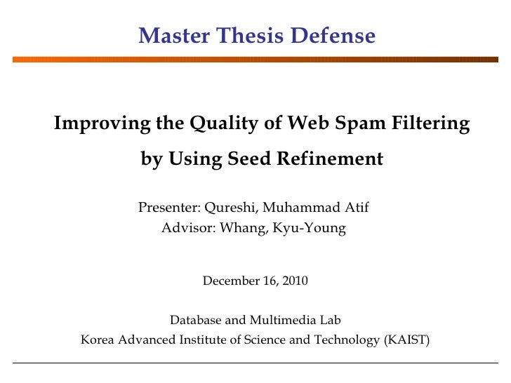 defense of master's thesis