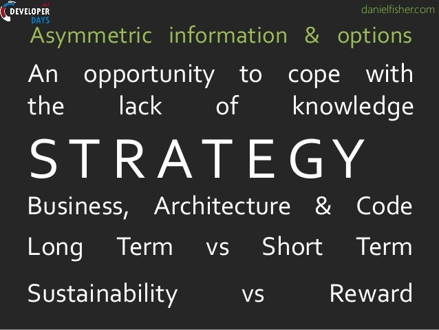 danielfisher.com Asymmetric information & options An opportunity to cope with the lack of knowledge ST R AT E GY Business,...