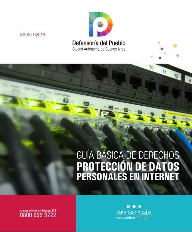 Guía de protección de datos personales en la red