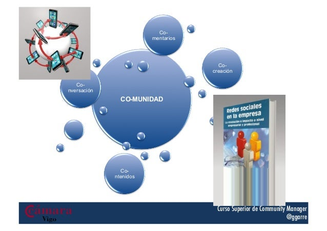 Comentarios  Cocreación Conversación  CO-MUNIDAD  Co-‐ laboración    Contenidos  Curso Superior de Community Manager @g...