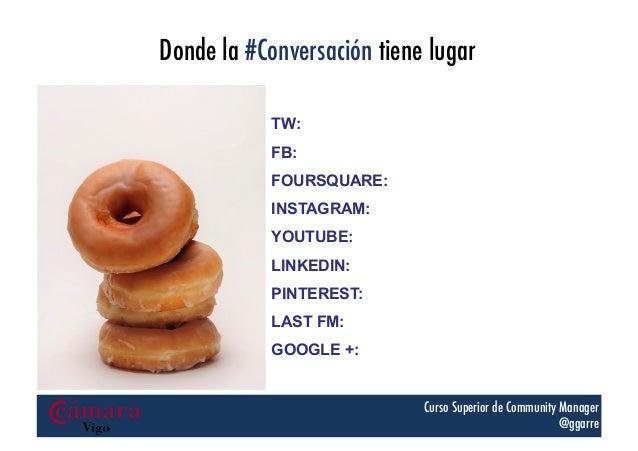 Donde la #Conversación tiene lugar TW: FB: FOURSQUARE: INSTAGRAM: YOUTUBE: LINKEDIN: PINTEREST: LAST FM: GOOGLE +: Curso S...