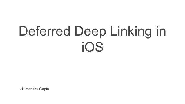 NaukriEngineering] Deferred deep linking in iOS