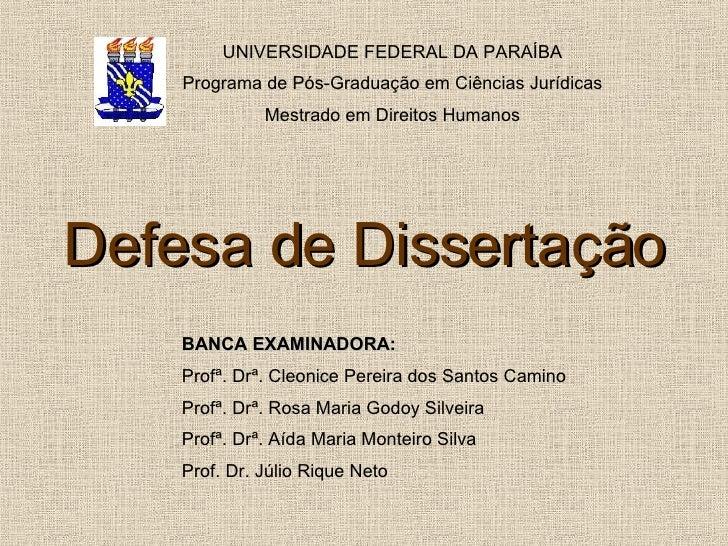 Tese ou dissertação de mestrado