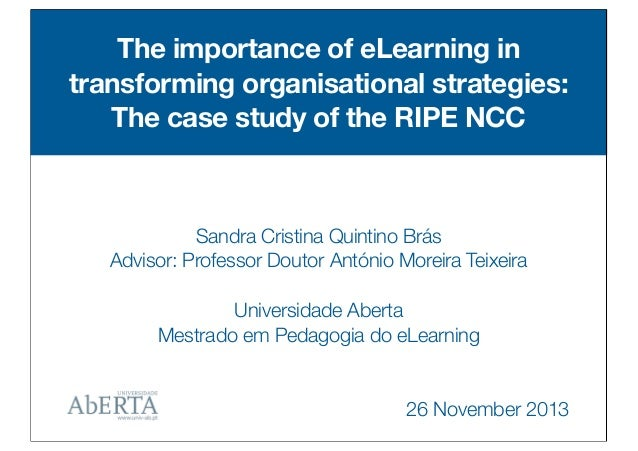 Master thesis on e learning