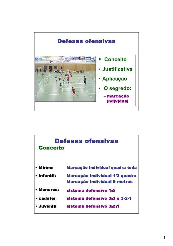 Defesas ofensivas                              • Conceito                              • Justificativa                    ...