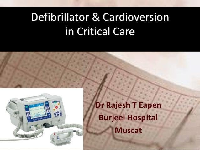 Defibrillator & cardioversion