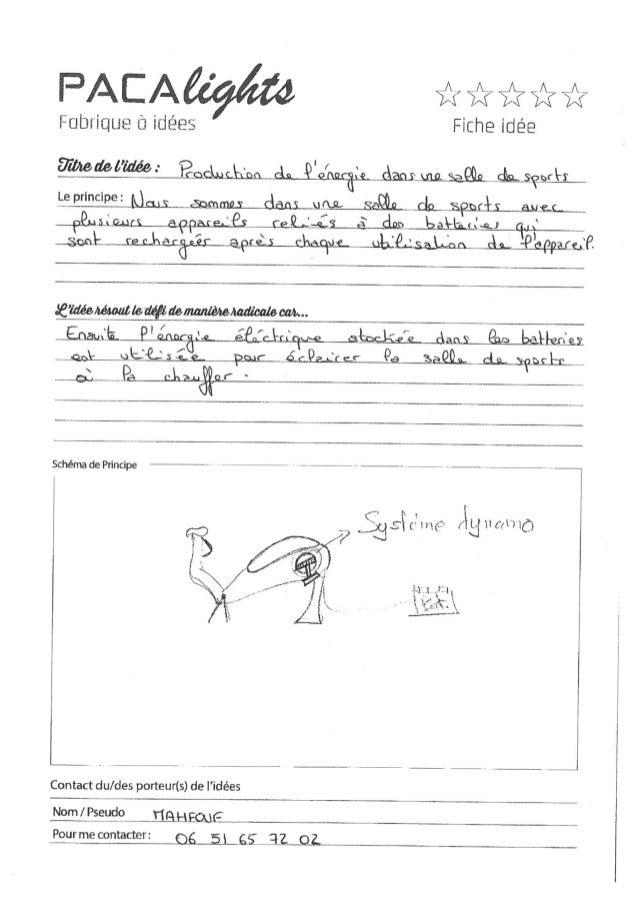 DefiCamp Digne, 13/1/2015 - Les fiches idées