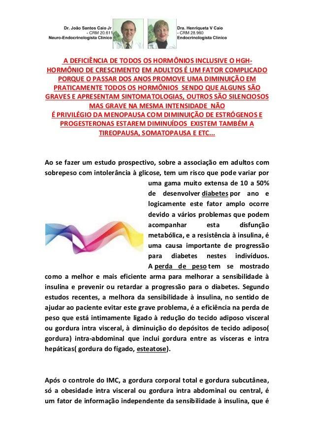 A DEFICIÊNCIA DE TODOS OS HORMÔNIOS INCLUSIVE O HGH-HORMÔNIO  DE CRESCIMENTO EM ADULTOS É UM FATOR COMPLICADO  PORQUE O PA...