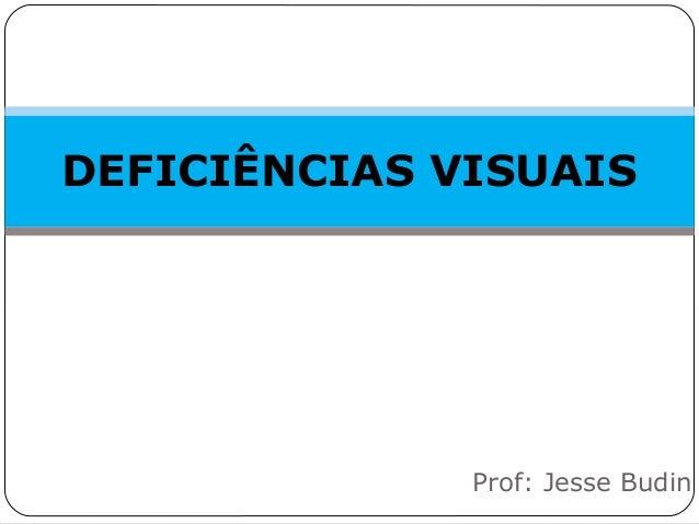 DEFICIÊNCIAS VISUAIS Prof: Jesse Budin