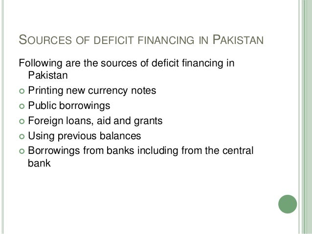 causes of deficit financing
