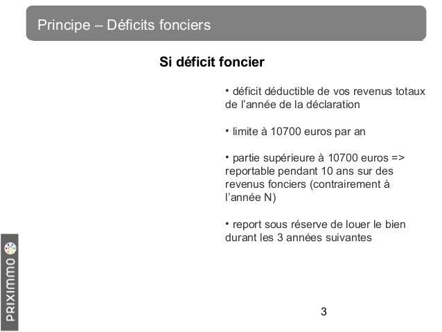 Investissement locatif calcul du d ficit foncier - Deficit foncier location meublee ...