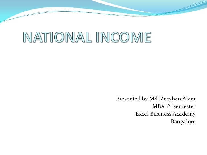 Presented by Md. Zeeshan Alam              MBA 1ST semester       Excel Business Academy                     Bangalore