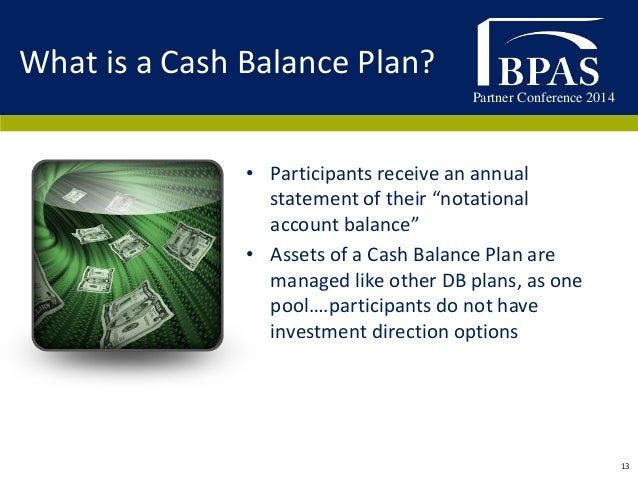 Defined benefit plan investment options