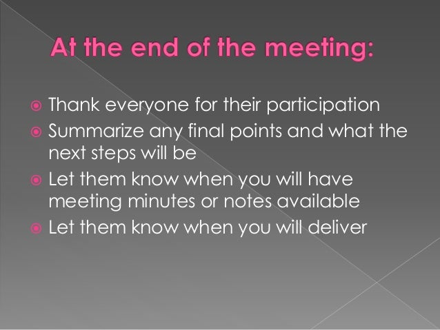 """the purpose and methods of meeting The purpose statement should be listed at the top of the agenda, and all activities within the meeting should align to that purpose the purpose should also be """"do-able"""" instead of defining a problem and finding a solution in the same meeting, consider breaking the process down into two different meetings."""