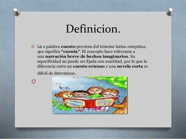 Definici n caracter sticas y elementos de un cuento for Origen y definicion de oficina