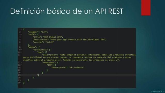 Definición básica de un API REST jcopete.com