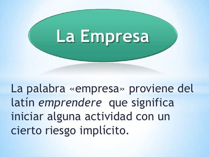 Definicion de empresa - photo#12