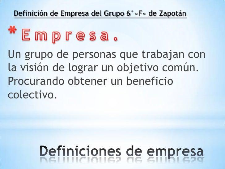 Definicion de empresa - photo#3