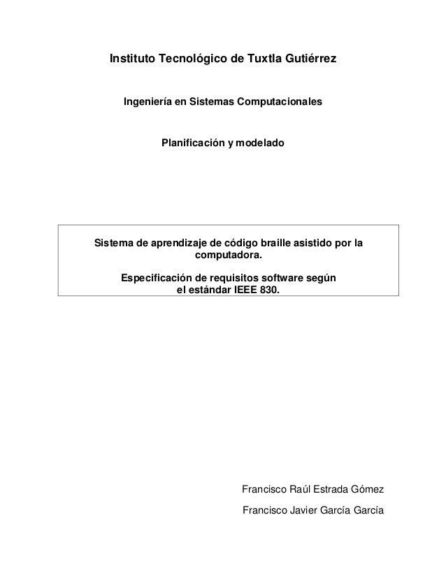 Instituto Tecnológico de Tuxtla Gutiérrez      Ingeniería en Sistemas Computacionales              Planificación y modelad...