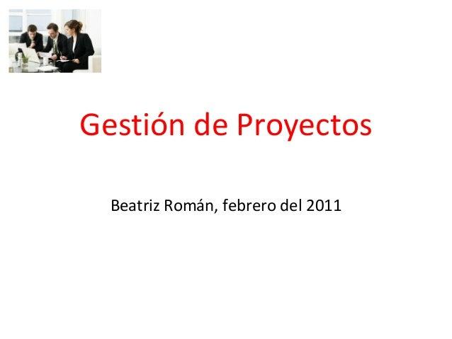 Gestión de Proyectos Beatriz Román, febrero del 2011