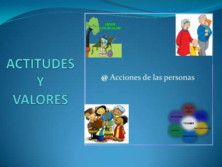 @Acciones de las personas<br />ACTITUDES Y VALORES<br />