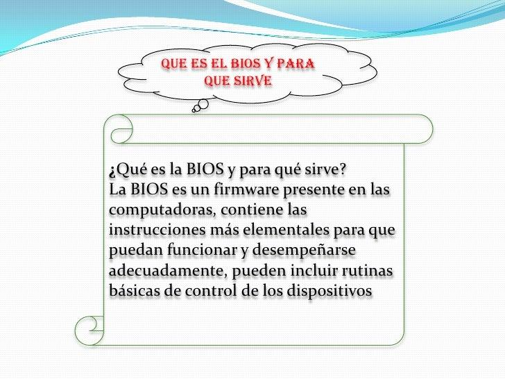 Bios.