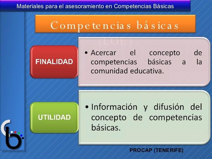 PROCAP (TENERIFE) Competencias básicas (LOE)