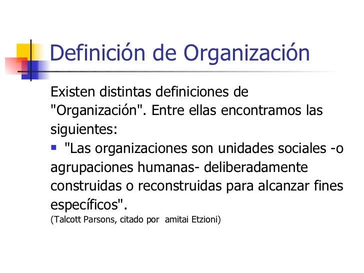 Definicion de organizacion for Oficina definicion