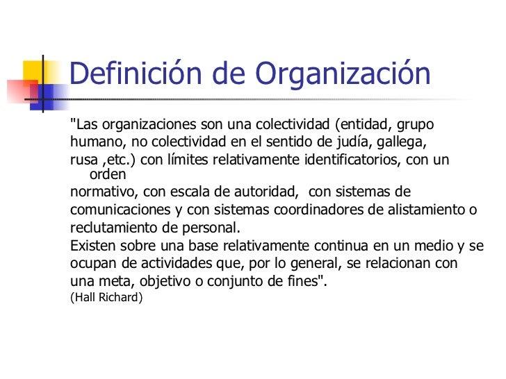 Definicion de organizacion for Concepto de organizacion de oficina