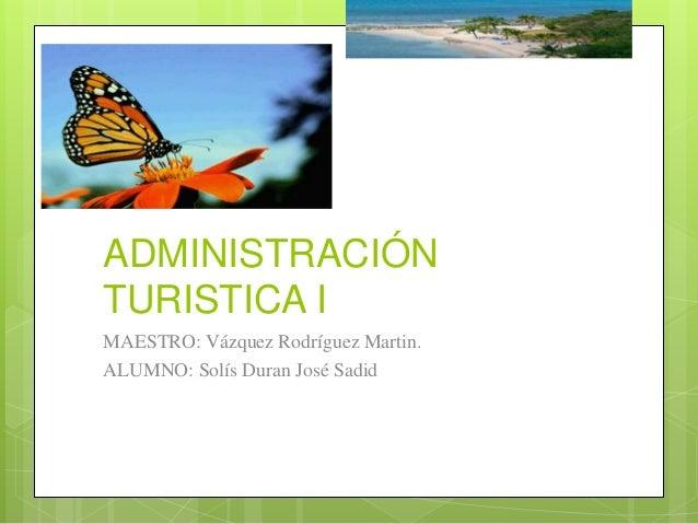 Concepto de Administración Turística